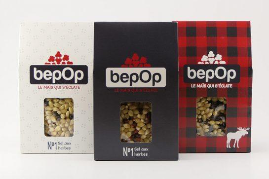 Kit à popcorn – Sel aux herbes – Emballage simple